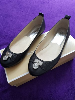 Michael Kors Mary Jane Ballerinas black-silver-colored