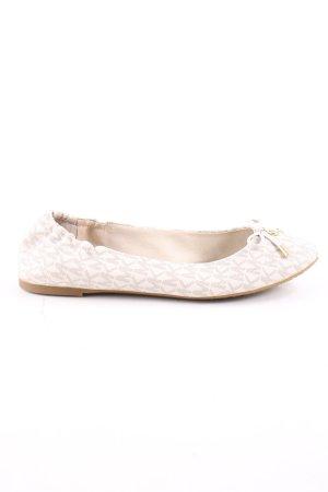 Michael Kors Ballerinas with Toecap cream allover print casual look
