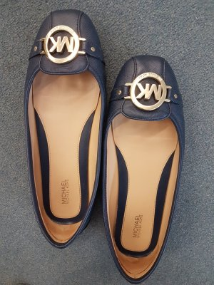 Michael kors ballerinas mocassin navy 39 leder leather