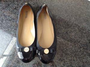 Michael Kors Ballerines Mary Jane noir-doré cuir