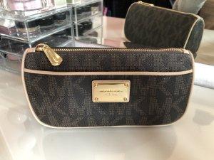 Michael Kors Beauty Bag Clutch Tasche in braun