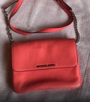 Michael Kors Bedford Double Gusset Crossbody Coral Reef
