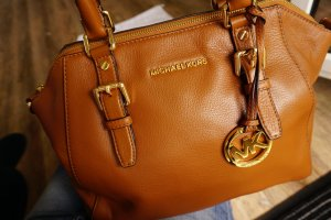 Michael Kors Bedford Satchel in Cognac