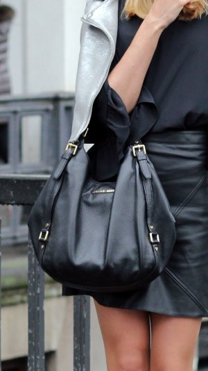 Michael kors Bedford Tasche schwarz Leder