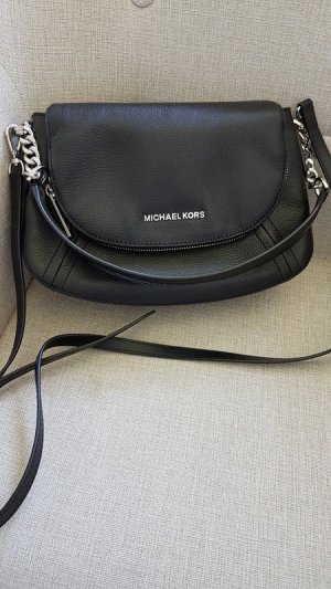 Michael Kors Bedford Tassel Tasche Schwarz Silber NEU