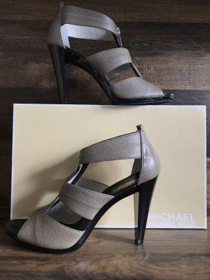Michael Kors High Heel Sandal light brown-sand brown leather