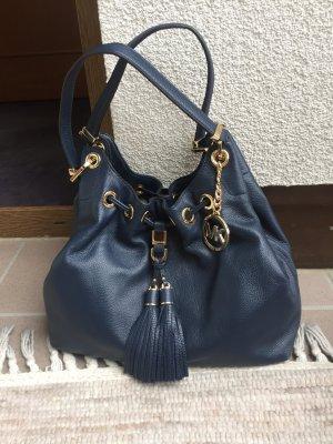 Michael Kors Pouch Bag dark blue leather