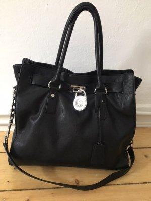 Michael Kors Frame Bag black-silver-colored leather