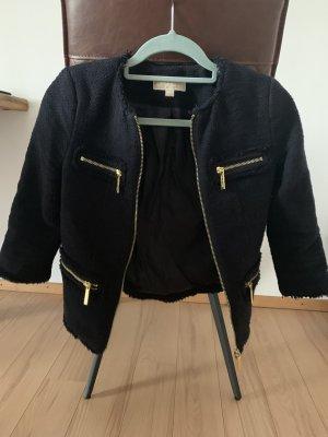 Michael Kors Tweed blazer donkerblauw-goud