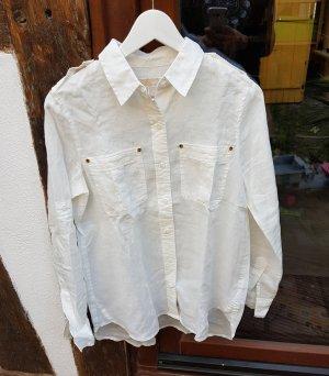 Michael Kors Long Sleeve Blouse white-natural white ramie
