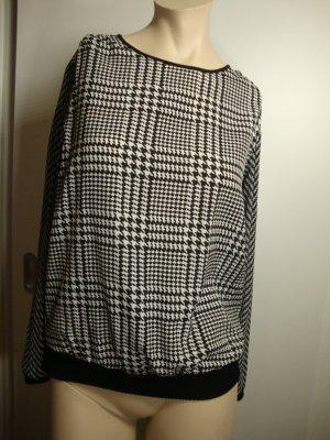 Michael Kors Long Sleeve Blouse white-black polyester