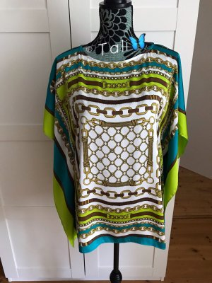 Michael Kors Bluse Top Tunika Coverup  Blau Weiss Grün Gold  M 38 8
