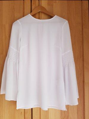 Michael Kors Long Sleeve Blouse white polyester