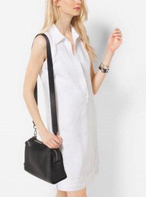 Michael Kors Blusenkleid aus Leinen Gr S M NEU Leinen weiß Sommer Kleid