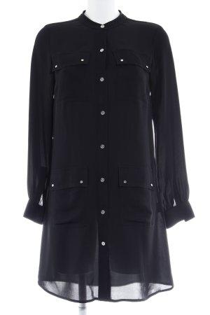 Michael Kors Blusenkleid schwarz-silberfarben Elegant
