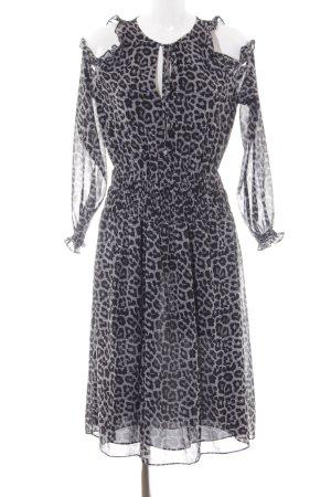 Michael Kors Blousejurk zwart-wit luipaardprint extravagante stijl