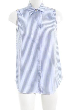 Michael Kors Chemisier blanc-bleu motif rayé style décontracté