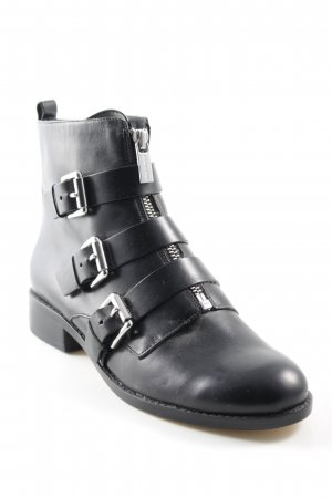Michael Kors Booties schwarz Biker-Look