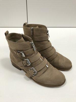 Michael Kors Boots Stiefeletten mit Schnallen Wildleder Beige Braun Gr. 38,5 - wenige Male getragen!