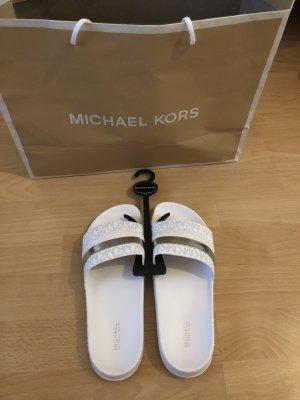 Michael Kors Sandale d'extérieur blanc-argenté