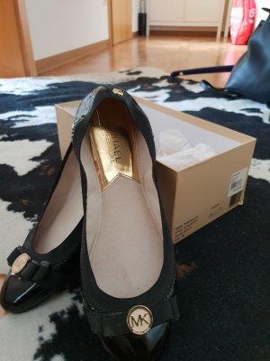 Michael Kors Patent Leather Ballerinas black