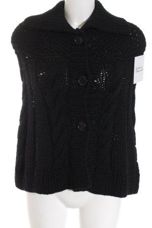 Michael Kors Capa negro Patrón de tejido estilo clásico