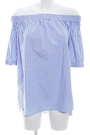 Michael Kors Blusa tipo Carmen azul-blanco estampado a rayas look casual