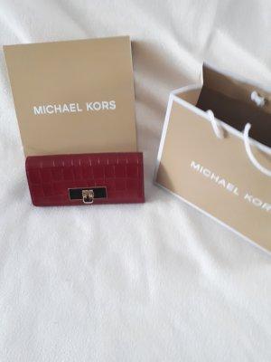 Michael Kors Portefeuille rouge carmin cuir
