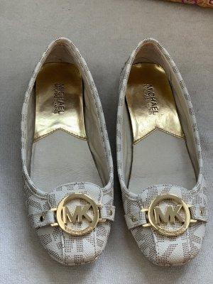 Michael Kors Foldable Ballet Flats oatmeal-cream leather