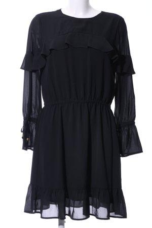 Michael Kors Chiffon jurk zwart elegant