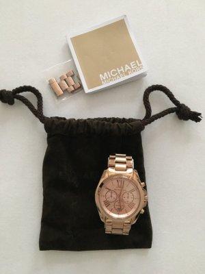 Michael Kors Horloge met metalen riempje roségoud Edelstaal