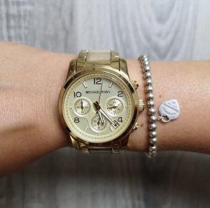 Michael Kors Chronograph Armbanduhr Gold / Hornoptik