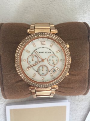Michael Kors Chronograph Gold mit Metallband, Damen
