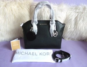 Michael Kors Satchel black-silver-colored leather