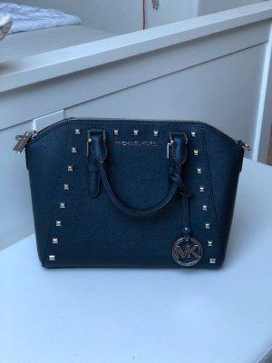Michael Kors Ciara Studded MD Navy Blau Silber NEU