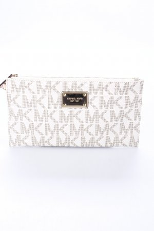 Michael Kors Clutch hellbeige-goldfarben Monogram-Muster Party-Look