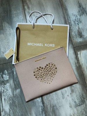 Michael Kors Clutch Leder mit einem Herz mit Nieten neu mit Etikett
