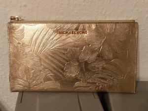 michael kors clutch leder neu gold tasche