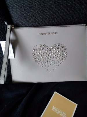 Michael Kors Clutch silver-colored-light grey