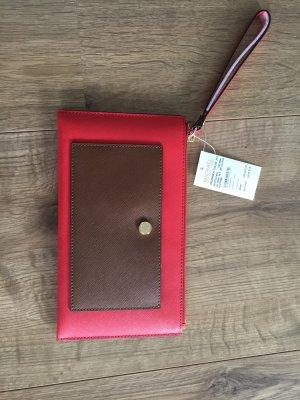 Michael Kors Clutch Pochette Greenwich Luggage Sienna NEU Tasche