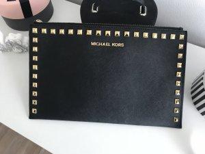 Michael Kors Clutch Schwarz Gold Nieten