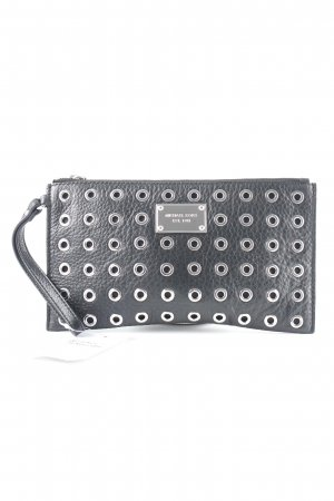 Michael Kors Clutch schwarz-silberfarben Party-Look