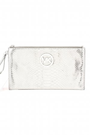 Michael Kors Clutch silberfarben Animalmuster Party-Look