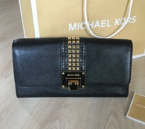 Michael Kors Clutch Tasche schwarz Gold