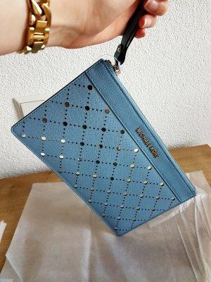 Michael Kors Clutch Tasche Violet powder blue blau silber NEU!