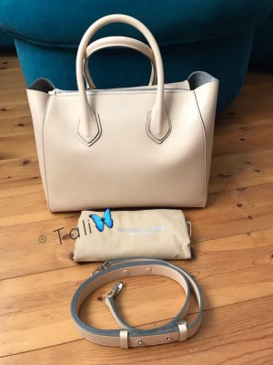 Michael Kors Collection Tasche Helena Large LG Nude Beige Silber