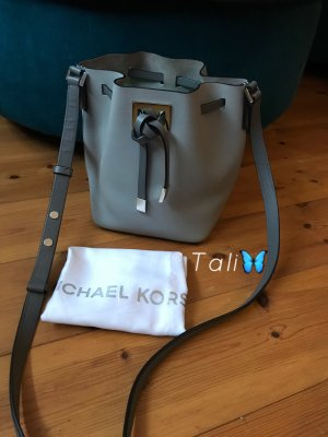 Michael Kors Collection Tasche Miranda Bucket Bag SM Small Cement Grau Silber