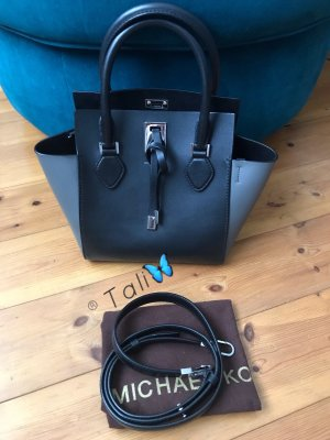 Michael Kors Collection Tasche Miranda Colorblock Schwarz Graphit Grau Silber