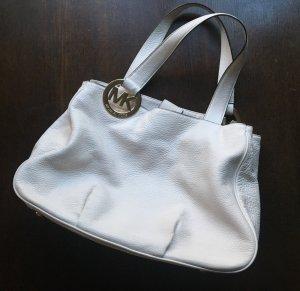 Michael Kors Shopper white leather