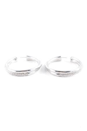 Michael Kors Orecchino a cerchio argento elegante